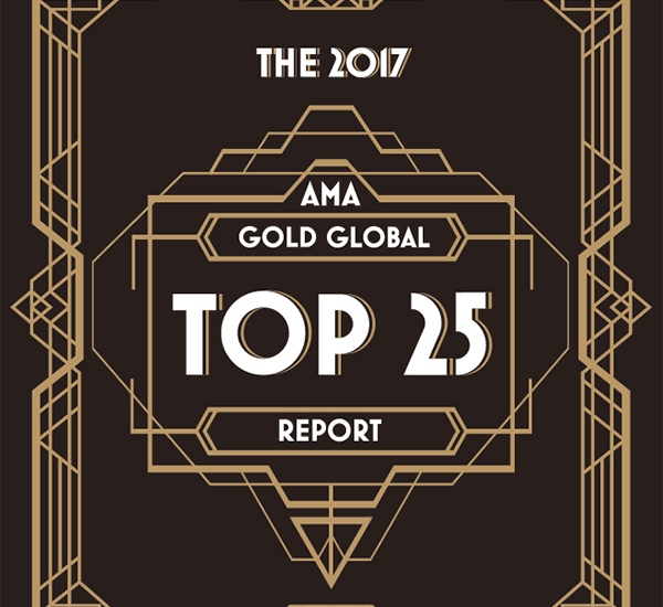 The 2017 AMA Gold Global Top 25 Market Research Companies