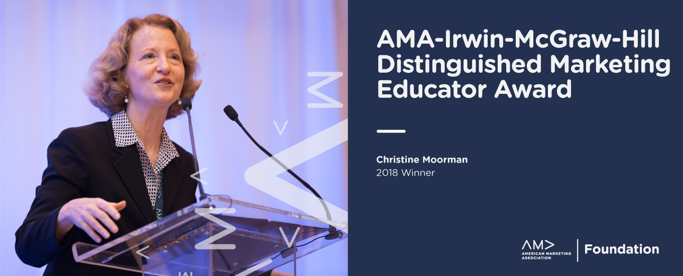 AMA-Irwin-McGraw-Hill Distinguished Marketing Educator Award
