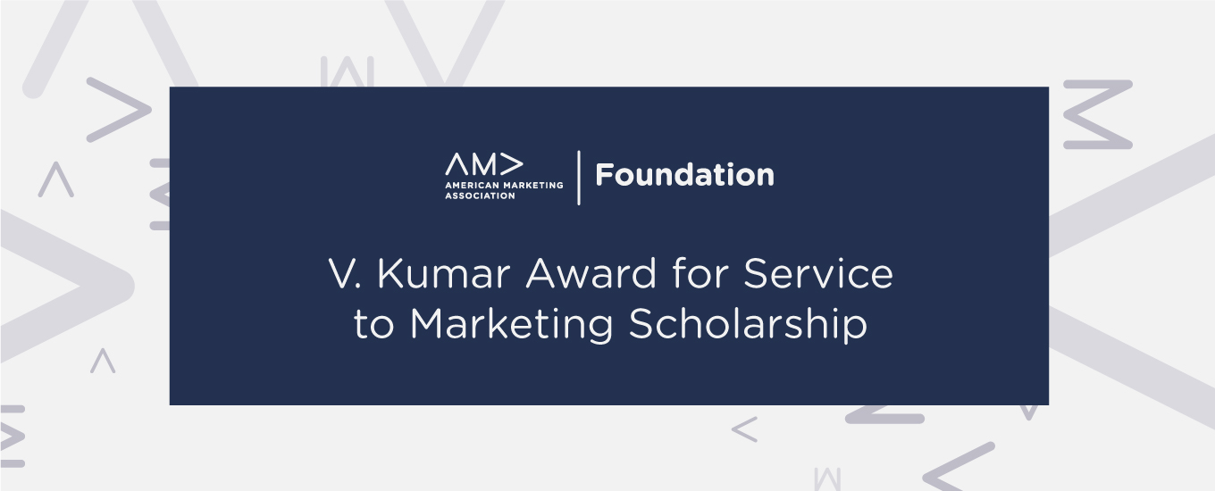 V Kumar Award for Service to Marketing Scholarship