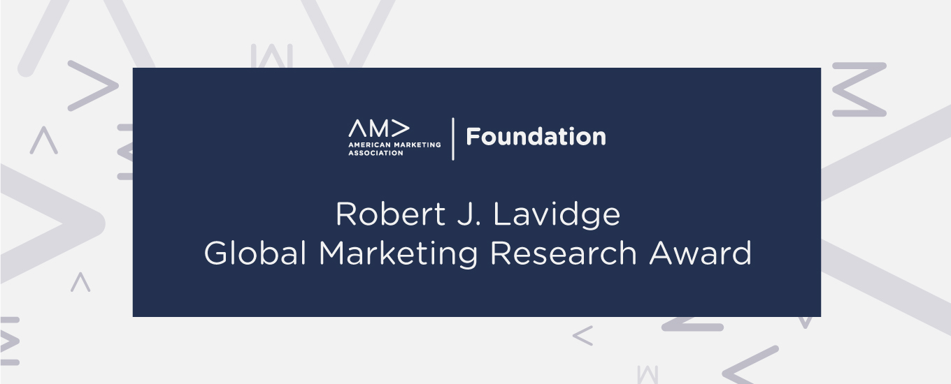 Robert J. Lavidge Global Marketing Research Award