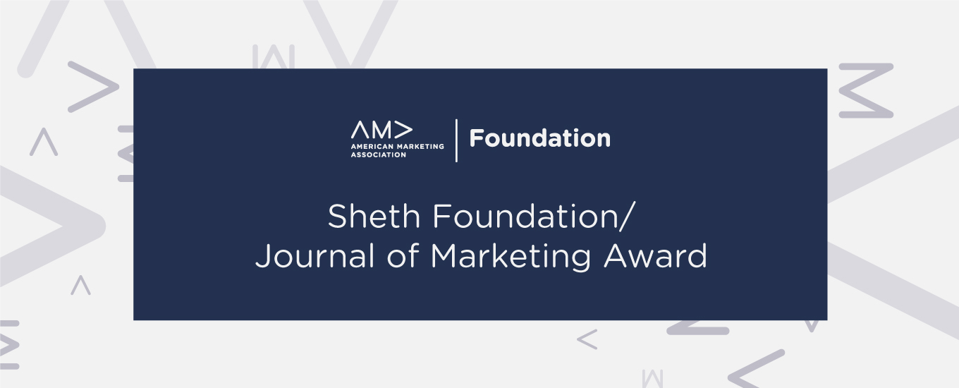 Sheth Foundation/Journal of Marketing Award
