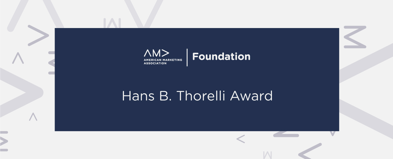 Hans B. Thorelli Award