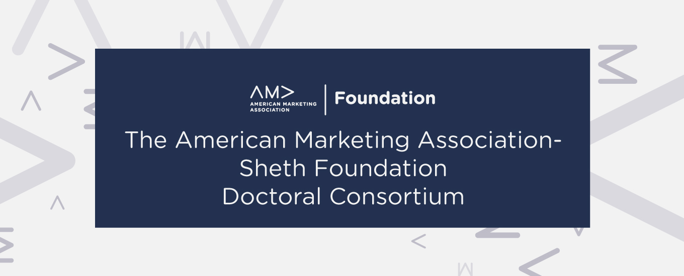 AMA-Sheth Foundation Doctoral Consortium