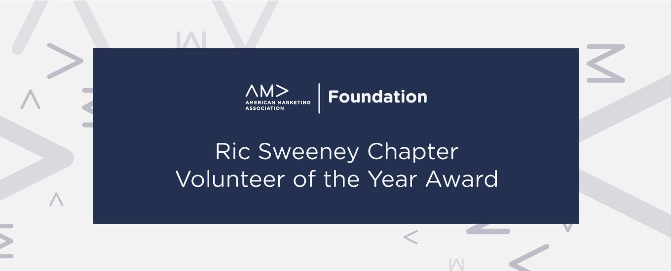 Ric Sweeney Chapter Volunteer of the Year Award