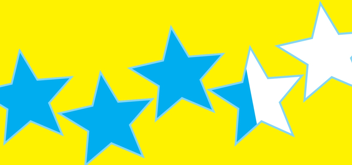 blue stars on yellow background
