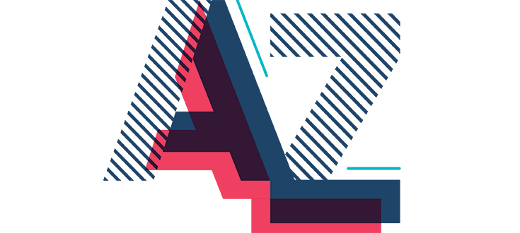 A to Z block letters
