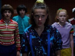 "The cast of Netflix's ""Stranger Things"""