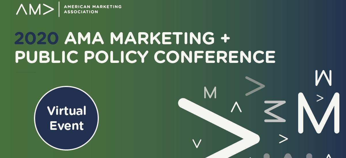 AMA 2020 Virtual Marketing and Public Policy Conference