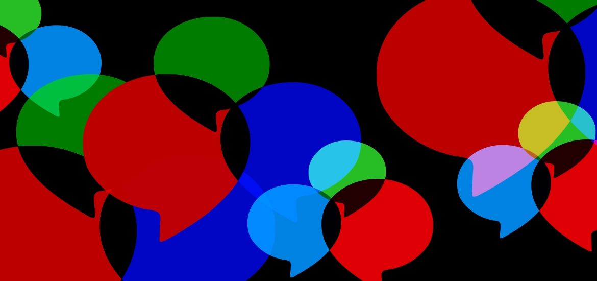 multicolored speech bubbles