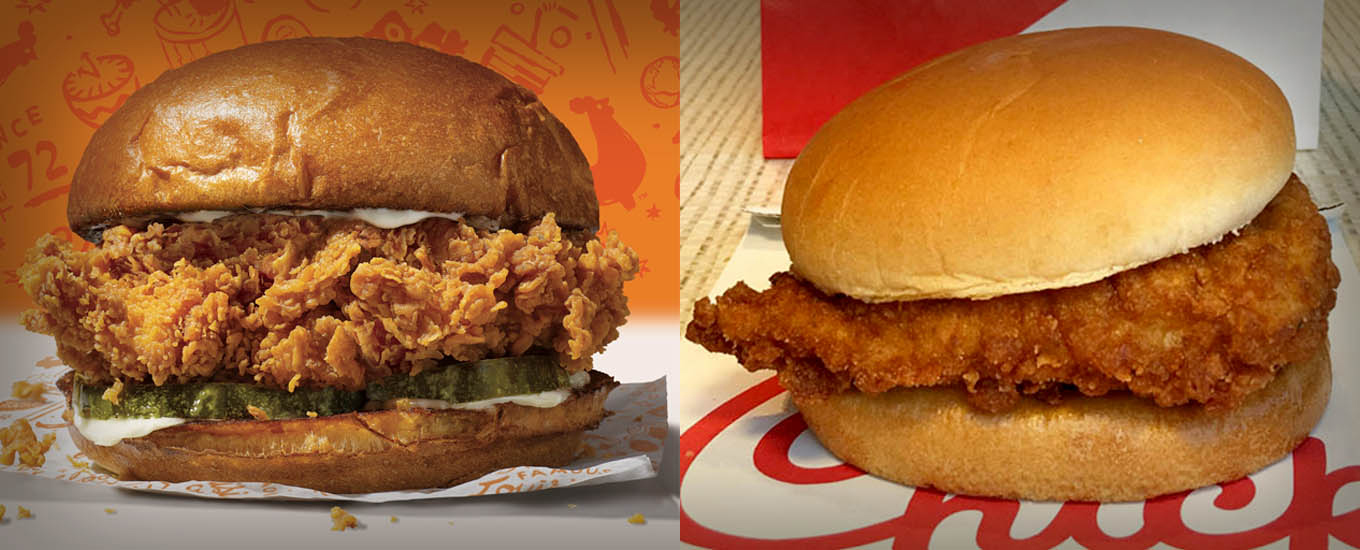 popeyes and chick-fil-a chicken sandwiches