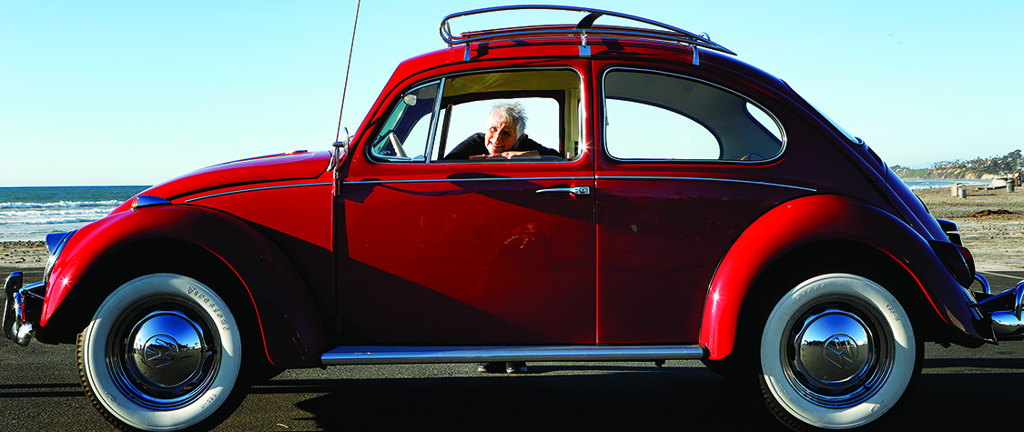 Volkswagen red beetle