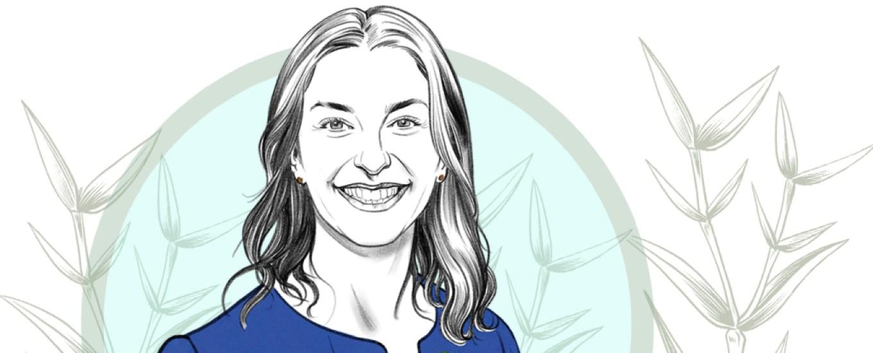 illustration of Carolyn Tisch Blodgett
