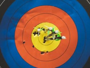 multiple arrows in target bullseye