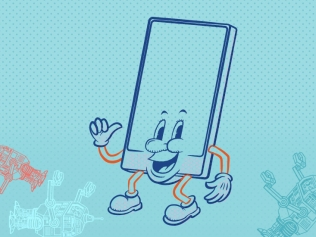 illustration of smiling phone