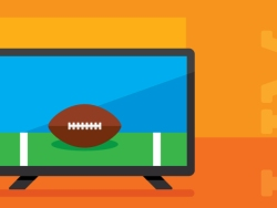 illustration of football on television