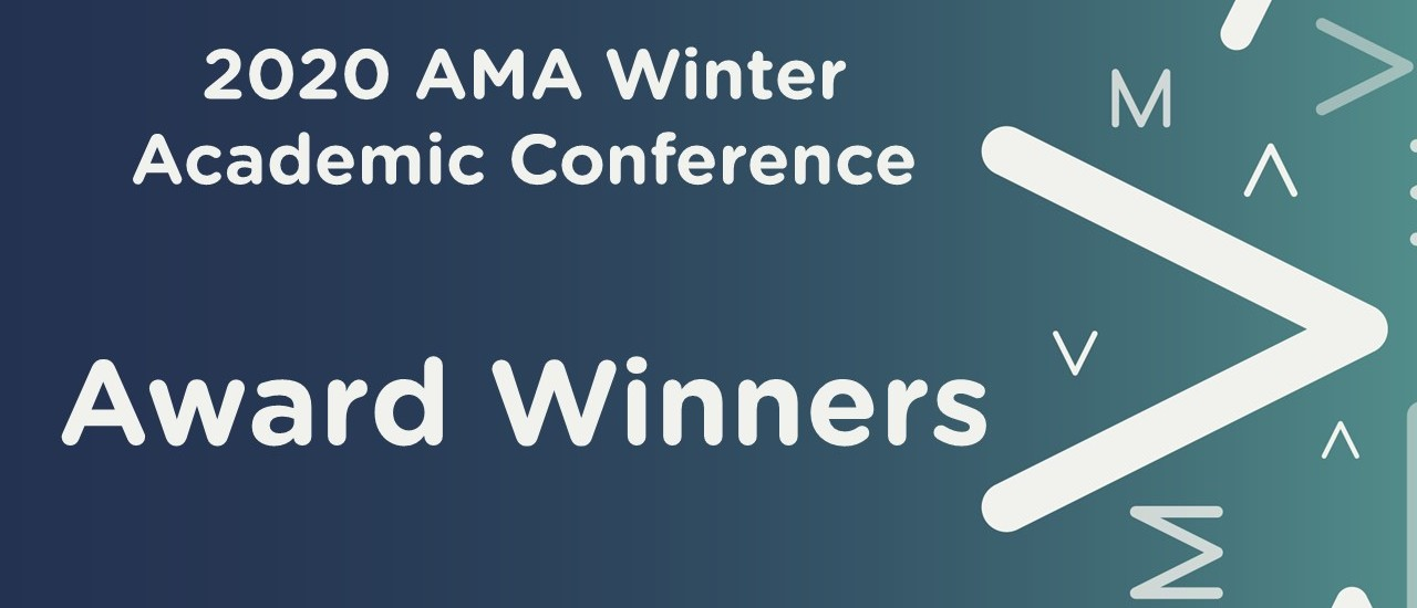 2020 AMA Winter Academic Conference: Award Winners and Fellow Inductees
