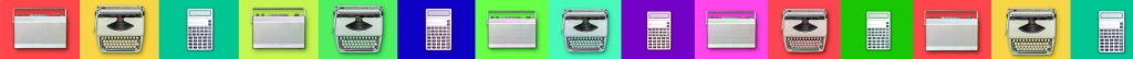 banner image of computers, typewriters and calculators