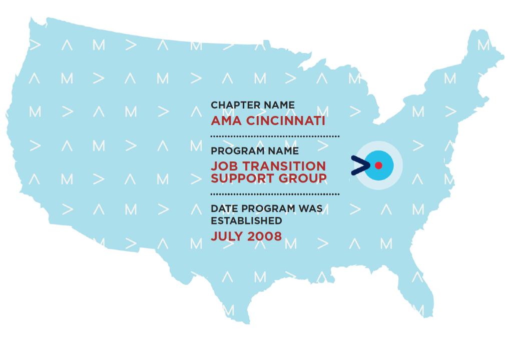 continental United States with indicator on Cincinnati, Ohio