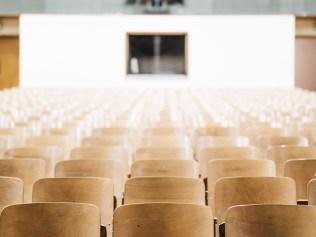 empty seats in an auditorium