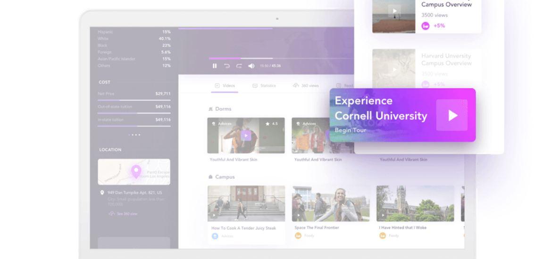 screenshot of CampusReel