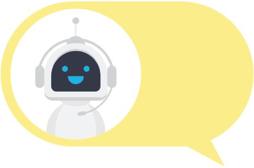 robot in speech bubble