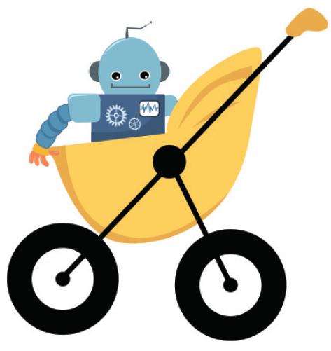 baby robot in stroller