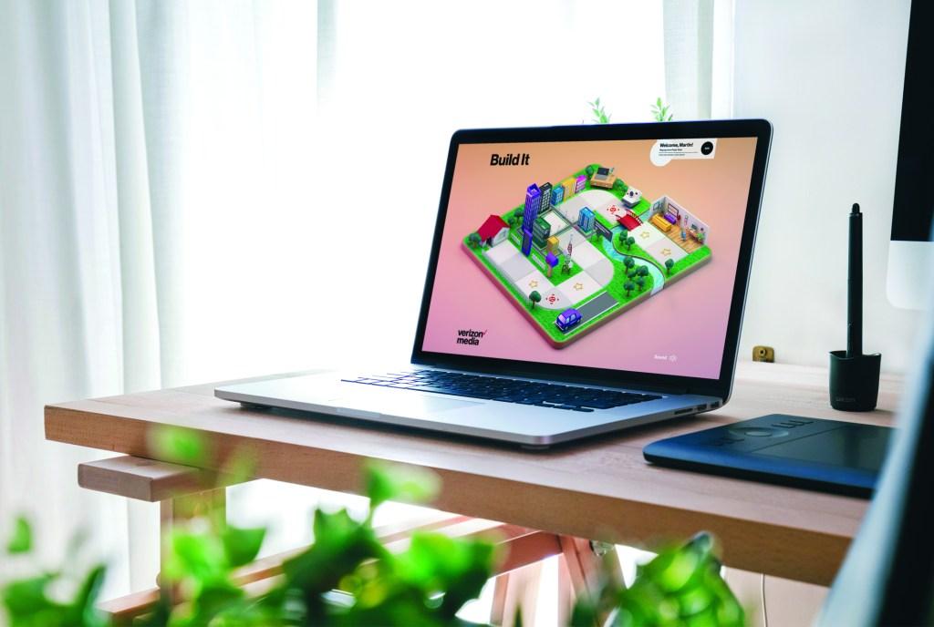 Build It virtual game from Verizon Media