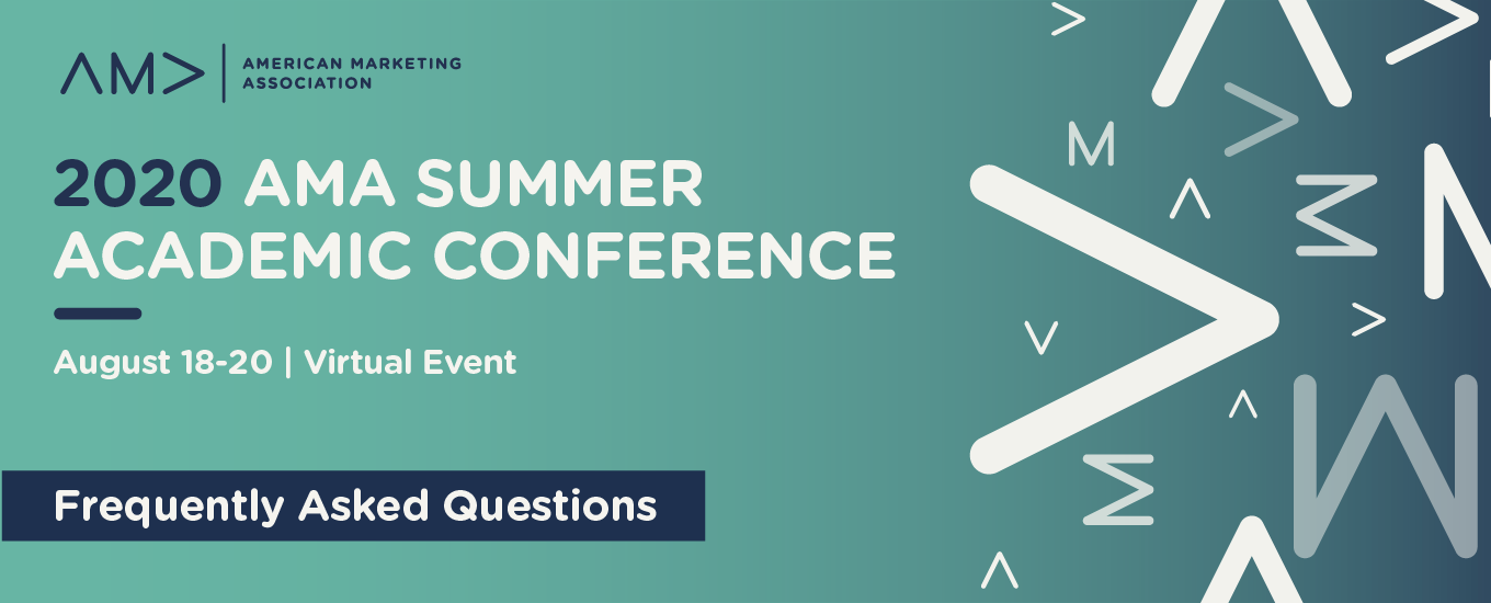 2020 AMA Summer Academic Conference FAQ