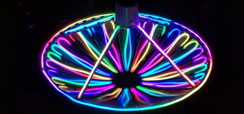 neon lit radar