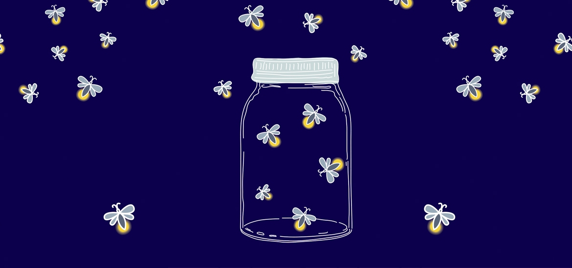 illustration of jar surrounded by moths