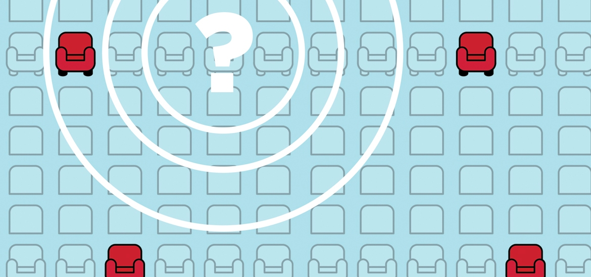 seating map with question marks