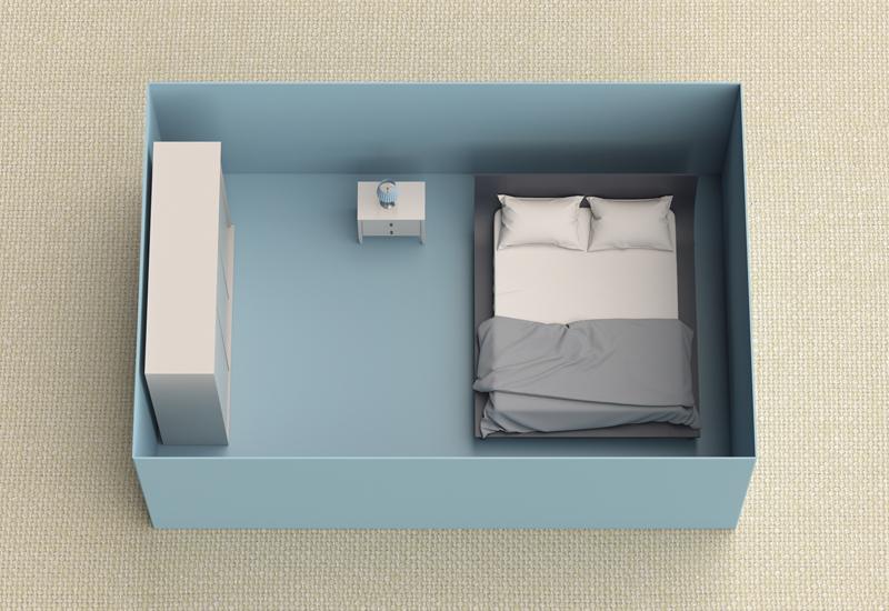 miniature bedroom model