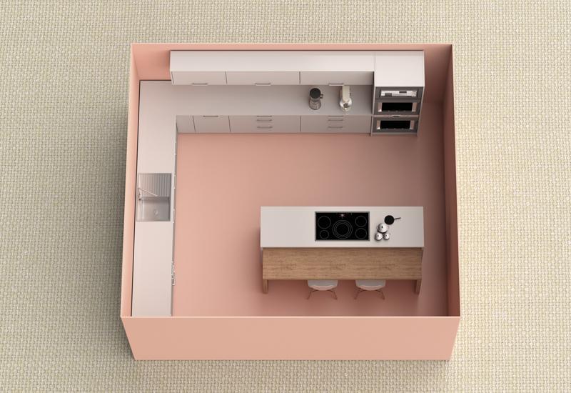 miniature kitchen model
