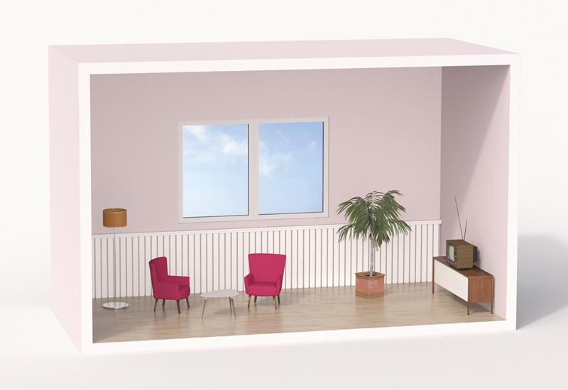 miniature living room model