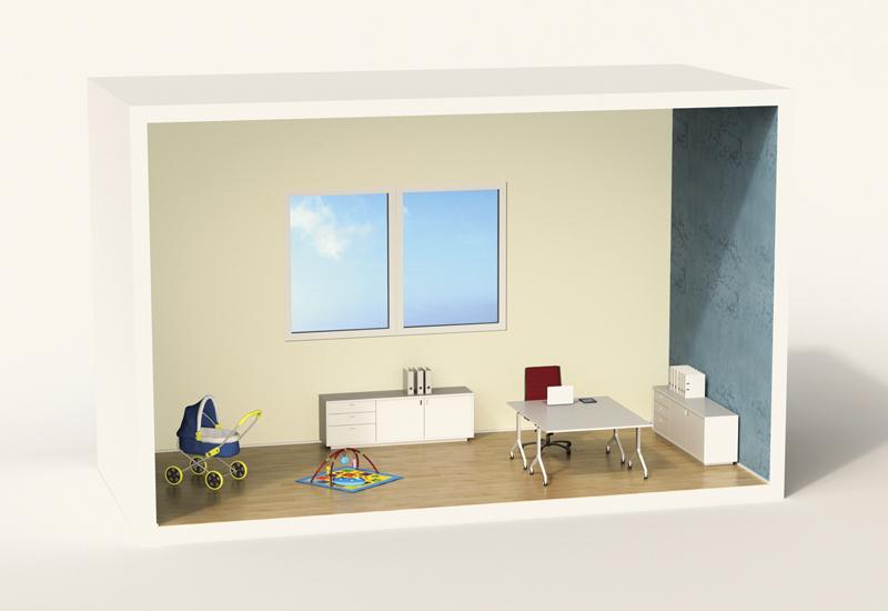 miniature office model