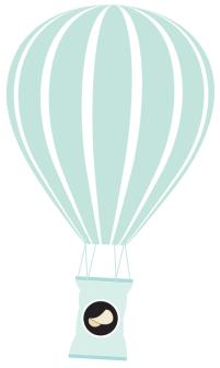 illustration of hot air balloon