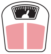 illustration of pink scale