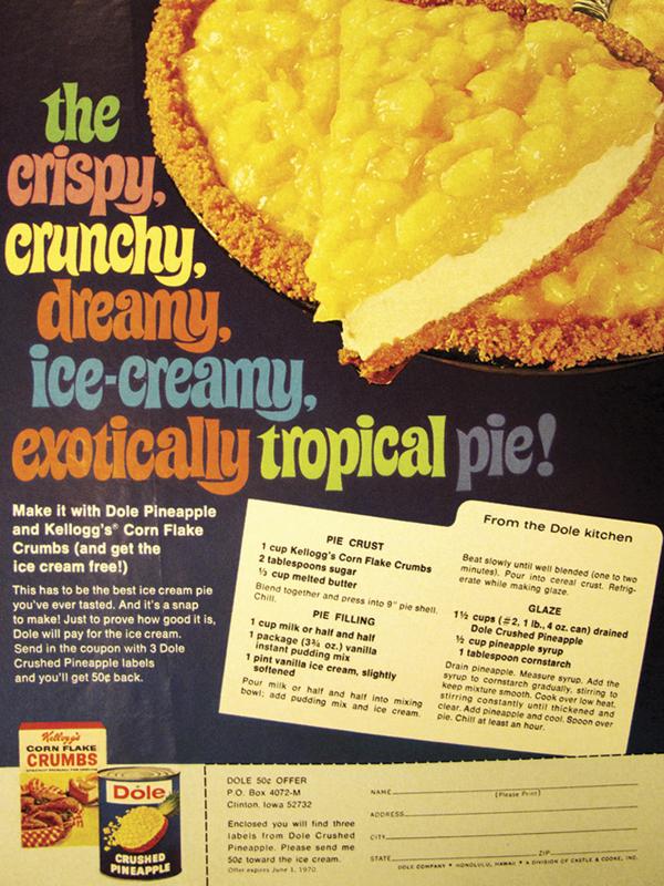 the crispy crunch dreamy ice-creamy exotically tropical pie dole recipe
