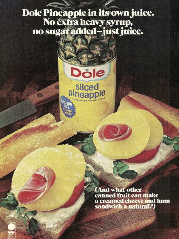 dole pineapple juice ad