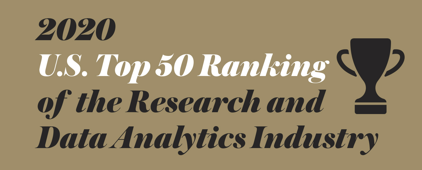 2020 Top 50 U.S. Market Research and Data Analytics Companies
