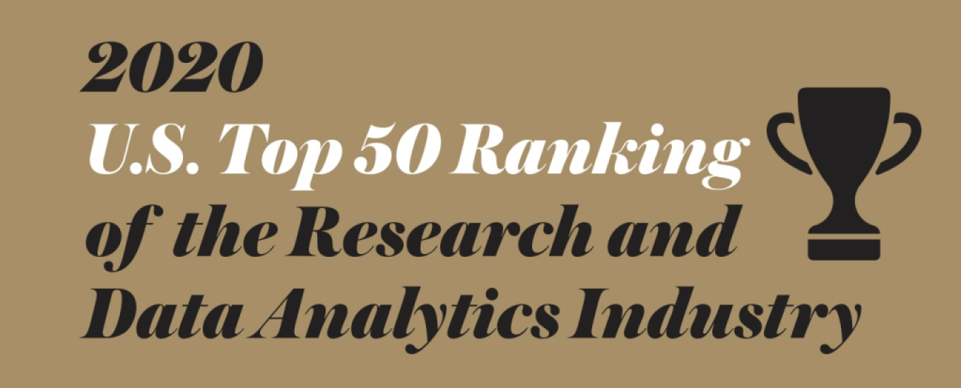 2020 U.S. Top 50 ranking of the research and data analytics industry
