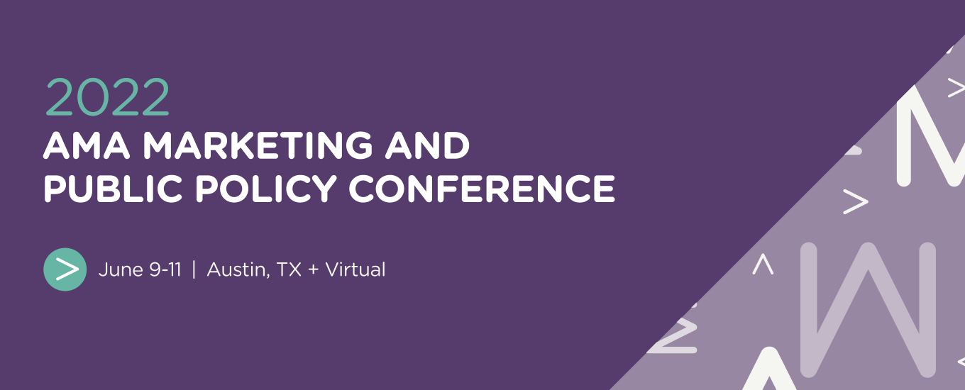 2022 AMA Marketing and Public Policy Conference Call For Papers