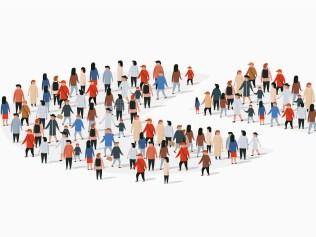 segmented population of people