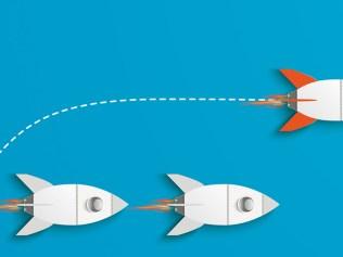 illustration of rocketships